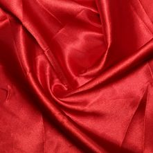 Red Satin High Sheen Fabric 0.5m